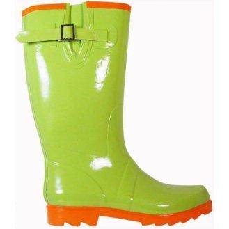Lime Green Rain Boots